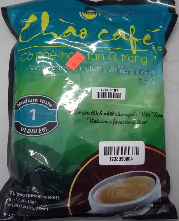Hong Lee Trading Inc. Issues Allergen Alert on Undeclared Milk Allergens in Chao Café Vietnamese Instant Coffee Mixed 3 in 1