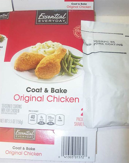 Gilster - Mary Lee Corp. Issues a Recall For Undeclared Milk Allergen in Essential Everyday® Chicken Coating