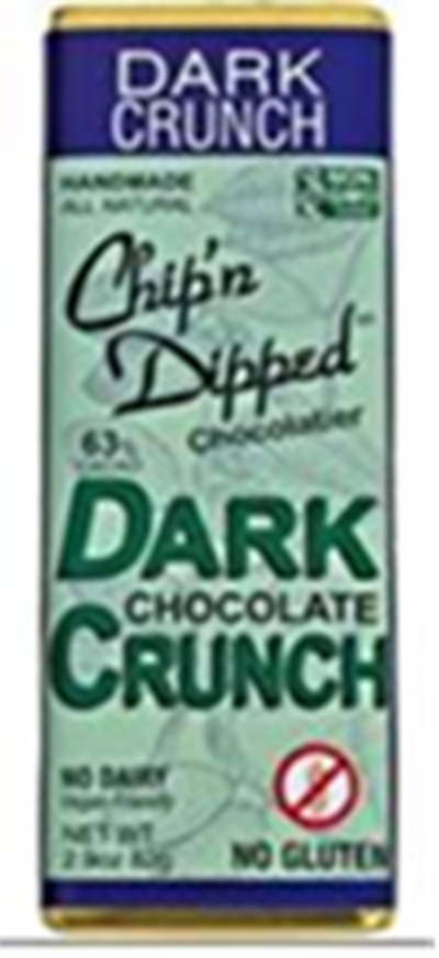 "Chip'n Dipped Issues Allergy Alert on Undeclared Milk in ""Dark Chocolate Crunch Bar"""