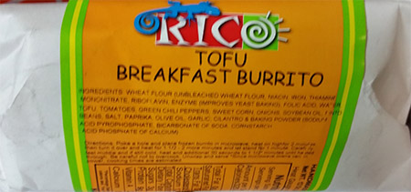 Rico Brand Issues Allergy Alert on Undeclared Soy in Tofu Breakfast Burrito