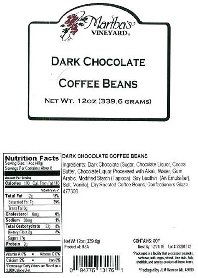 Lipari Foods Issues Allergy Alert on Dark Chocolate Covered Coffee Bean Products Due to Undeclared Almonds