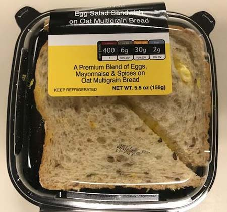 Kwik Trip, Inc. Issues Allergen Alert for Undeclared Fish or Shellfish on Premium Egg Salad Sandwich on Oat Multigrain Bread