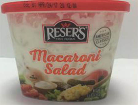 Reser's Fine Foods, Inc. Issues Allergy Alert On Undeclared Milk And Soy In Limited Quantity Of One Macaroni Salad Item