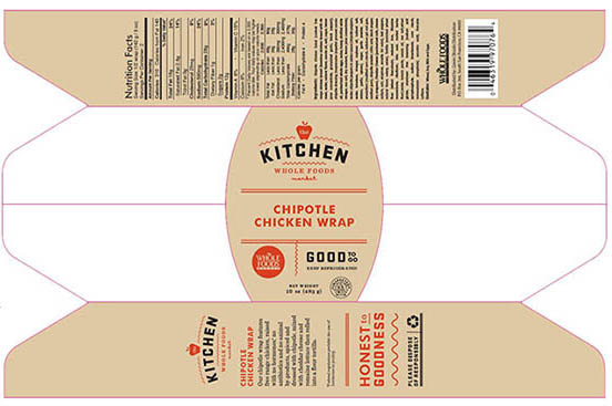 Whole Foods Markets Northern California Region Recalls Chipotle Chicken Wraps Due to Undeclared Fish Allergen