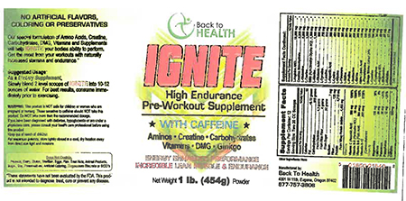 Independent Nutrition, Inc Issues Allergy Alert On Undeclared Milk in Ignite Pre-Workout Supplement Products