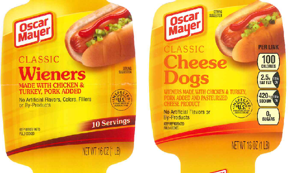 Kraft Recalls 96,000 Pounds of Hot Dogs Over Undisclosed Milk