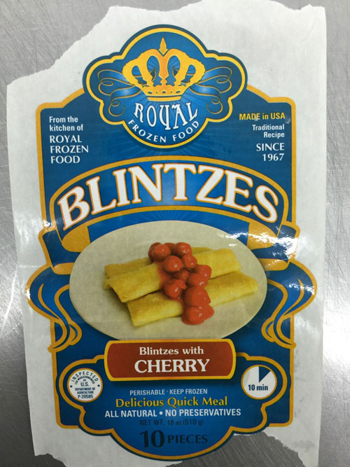 Royal Frozen Food Recalls Blintzes Due to Undeclared Milk