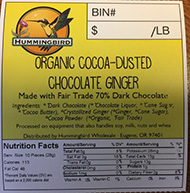 Hummingbird Wholesale Issues Allergy Alert on Undeclared Hazelnut in Organic Cocoa-dusted Chocolate Ginger