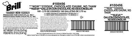CSM Bakery Solutions Issues Allergy Alert on Undeclared Peanut in Chick-Fil-A Chocolate Chunk Cookies