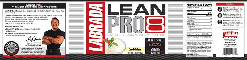 "Labrada Nutrition Issues Allergy Alert on Undeclared Egg in ""Leanpro8"" Protein Powder"