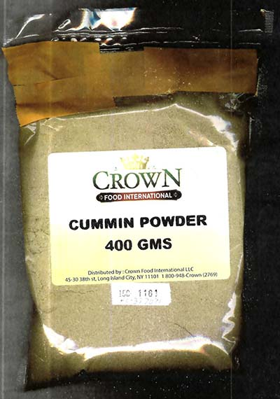 "CONSUMER ALERT: Undeclared Peanuts in ""Cumin Powder"""