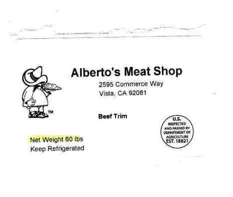 California Firm Recalls Beef Products Due to Misbranding and Undeclared Allergen (Milk)