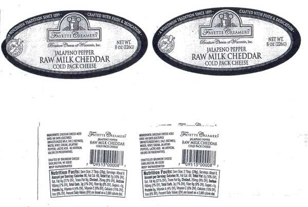 Brunkow Cheese Issues Allergy Alert On Undeclared Soy In Jalapeno Pepper Raw Milk Cheddar Cold Pack Cheese