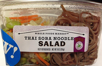 Whole Foods Market Recalls Thai Soba Noodle Salad in Five States, Due to Undeclared Allergen