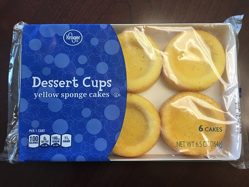 Kroger Issues Allergy Alert on Undeclared Milk in Kroger Yellow Sponge Cake Dessert Cups