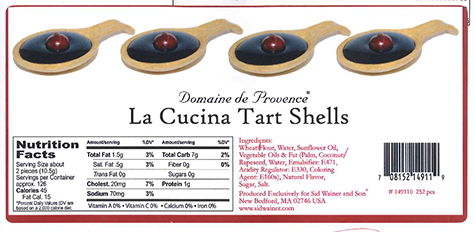 "Sid Wainer and Son Recalls Domaine de Provence La Cucina Tart Shells and Domaine de Provence Neutral 3"" Cone Tart Shells Due to Undeclared Allergens (Egg & Coconut)"