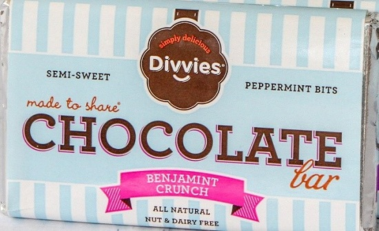 Divvies, LLC Conducts Voluntary Recall of Benjamint Crunch Chocolate Bars Due to Undeclared Milk In The Mint