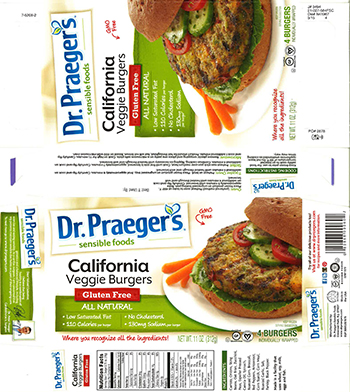 Dr.'s Sensible Foods Issues Allergy Alert for Gluten Free California Veggie Burger Due to Undeclared Soy