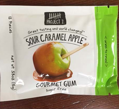 Project 7 Issues Allergy Alert on Undeclared Milk/Dairy Ingredient In Sour Caramel Apple Gum