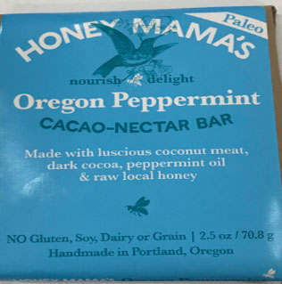 Nectar Foods Inc Dba Honey Mama's Issues Allergy Alert on Undeclared Almonds in Oregon Peppermint Cacao Nectar Bar