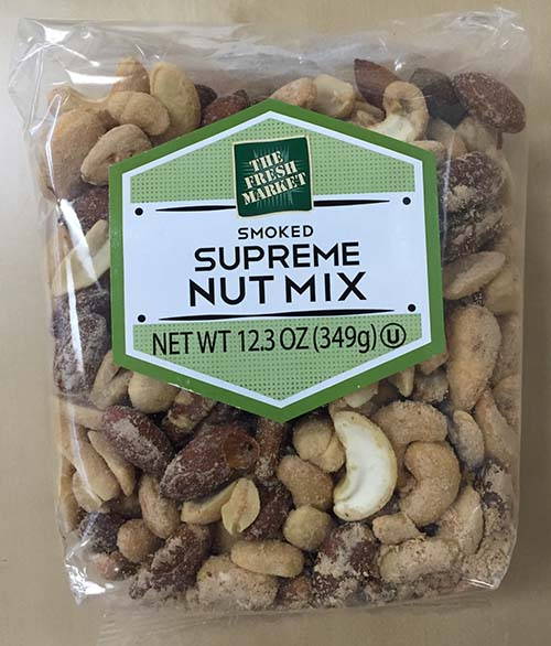 Creative Snacks Co. Issues Allergy Alert on Undeclared Peanuts and Soy in Select The Fresh Market Smoked TFM Supreme Nut Mix Bags