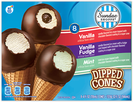 Mister Cookie Face LLC, a Subsidiary of Fieldbrook Foods Corporation, Announces a Voluntary Recall of Sundae Shoppe Ice Cream Dipped Variety Cones for the Possible Presence of Undeclared Peanuts