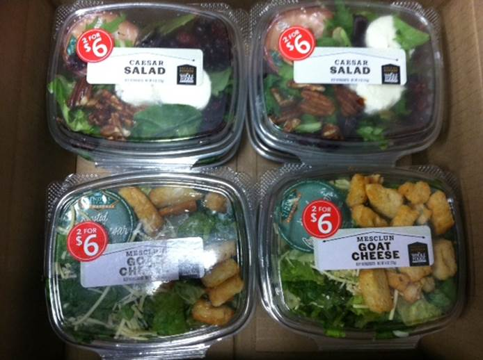 Whole Foods Market Recalls Pre-packaged Mini Caesar And Mini Mesclun Goat Cheese Salad In Three States, Due To Undeclared Allergen
