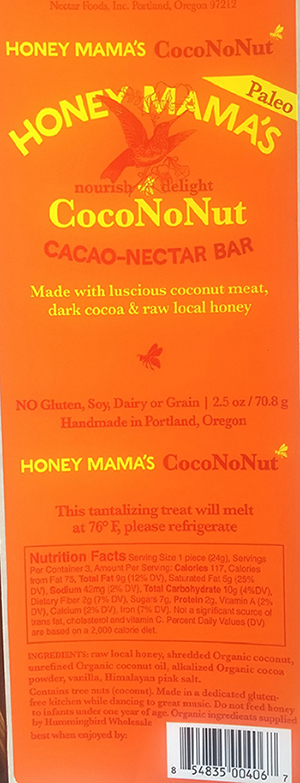 Nectar Foods, Inc. Issues Allergy Alert on Undeclared Almond in CocoNoNut Cacao-Nectar Bar