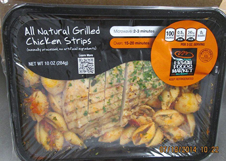 North Carolina Firm Recalls Grilled Chicken Product Due to Misbranding and Undeclared Allergen
