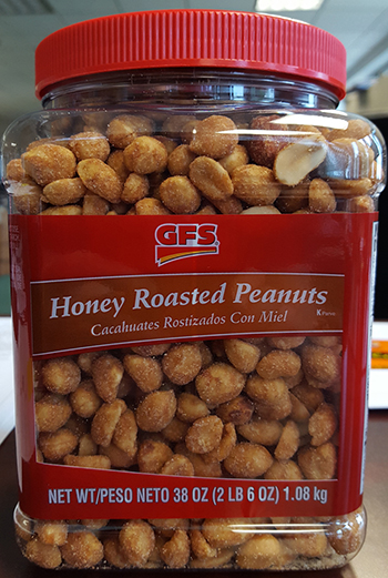 Krispak, Inc. Issues Allergy Alert on Undeclared Treenuts - Pecans In GFS Honey Roasted Peanuts Received From Supplier Trophy Nut Co.