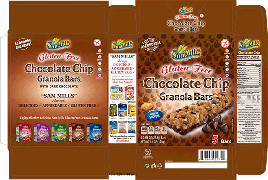 Sam Mills USA LLC Recalls Gluten Free Chocolate Chip Granola Bars Due To Undeclared Dairy