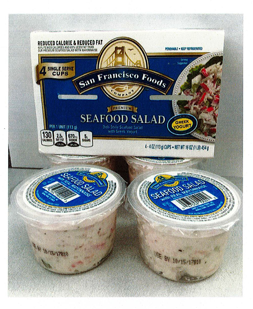 Simply Fresh Foods, Inc. Issues Allergy Alert on Undeclared Milk in Single Serve Cups of San Francisco Seafood Salad Made with Greek Yogurt