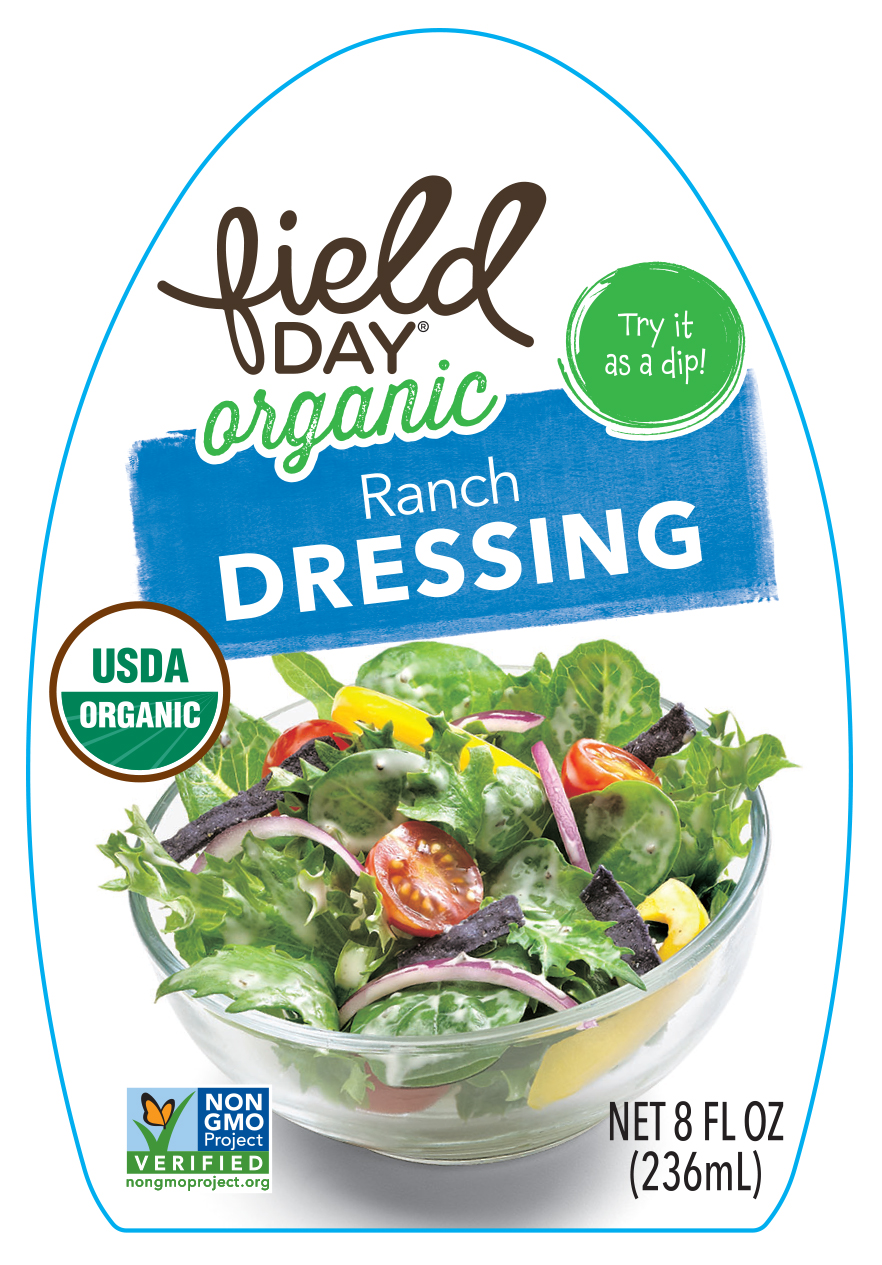 Drew's, LLC Issues Allergy Alert on Undeclared Milk and Egg in One Lot of Field Day Organic Ranch Dressing
