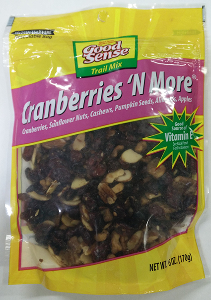 Waymouth Farms, Inc. Issues an Allergy Alert on Undeclared Pecans, Walnuts, Milk and Soy in Good Sense Cranberries 'N More