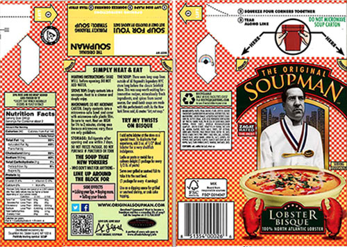 The Original Soupman Issues Allergy Alert and Recall on Certain Lots of The Original Soupman Lobster Bisque