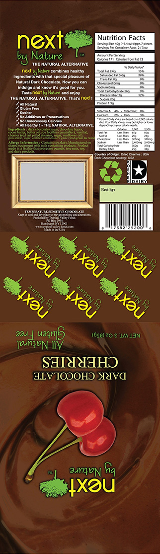 Tropical Valley Foods Issues Allergy Alert For Potentially Undeclared Peanuts In Next By Nature Dark Chocolate Cherries
