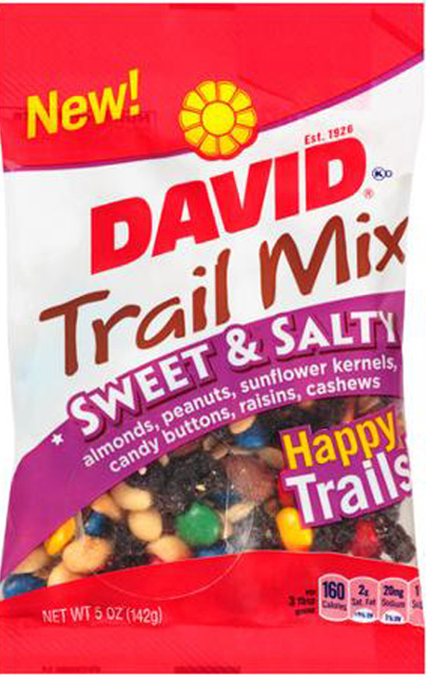 UPC Correction: David Trail Mix Sweet & Salty Voluntarily Recalled Due To Undeclared Dairy Allergen