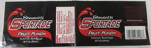 Stewart's Shops Issues Allergy Alert On Undeclared Milk In Sportade Fruit Punch