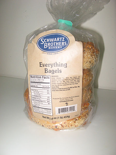 "Schwartz Brothers Bakery Issues Allergy Alert on Undeclared Milk in ""Everything Bagels"""