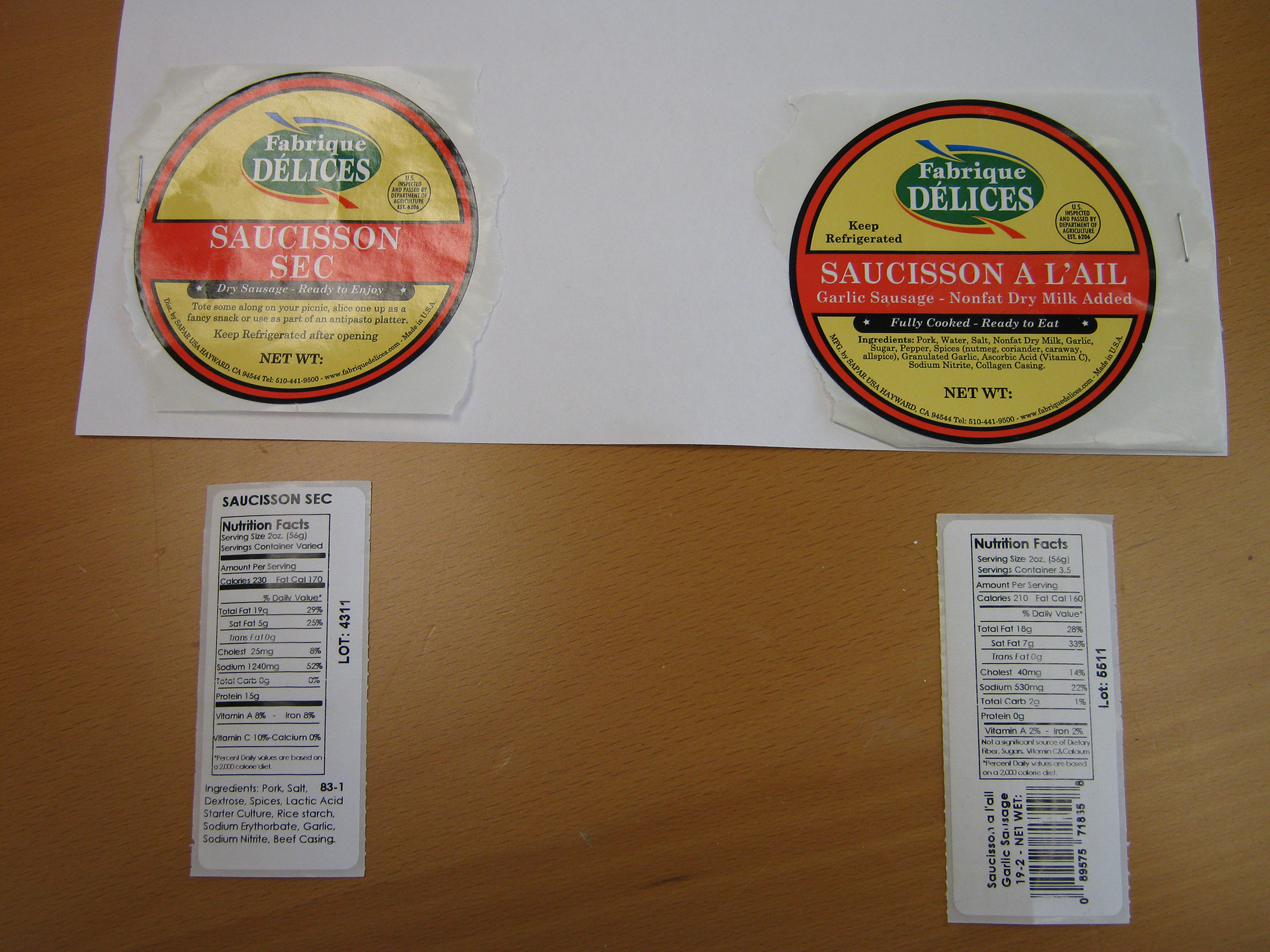 California Firm Recalls Sausage Products Due To Misbranding and Undeclared Allergen (Milk)