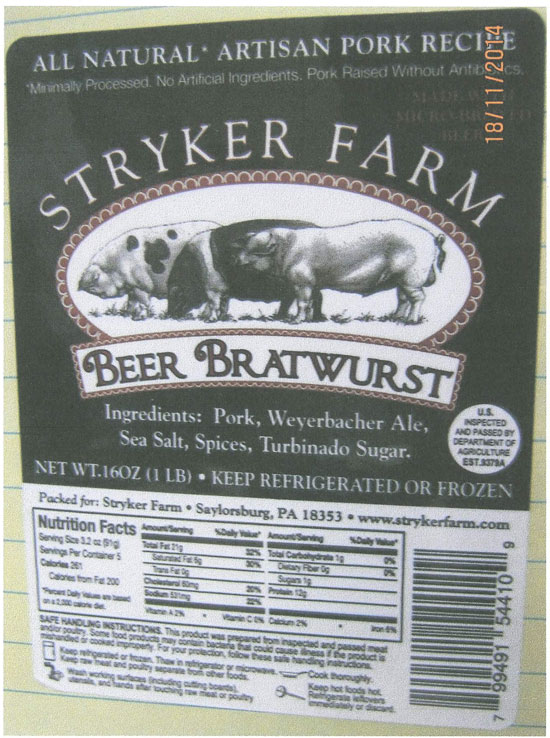 Pennsylvania Firm Recalls Pork Products Due To Misbranding and Undeclared Allergens (Soy)
