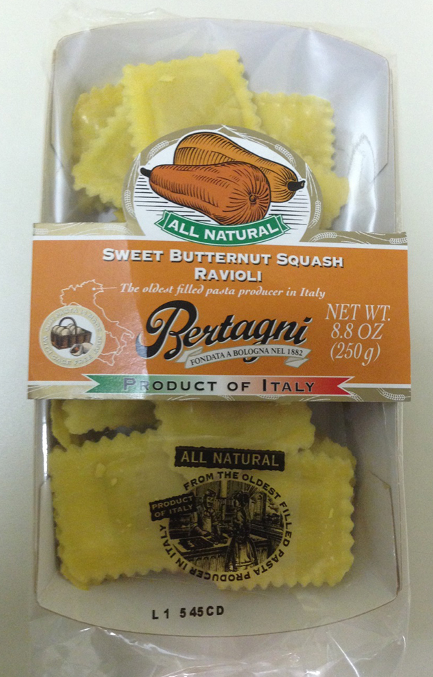Bertagni 1882 Spa Issues Allergy Alert on Undeclared Cashew and Almond in Sweet Butternut Squash Ravioli