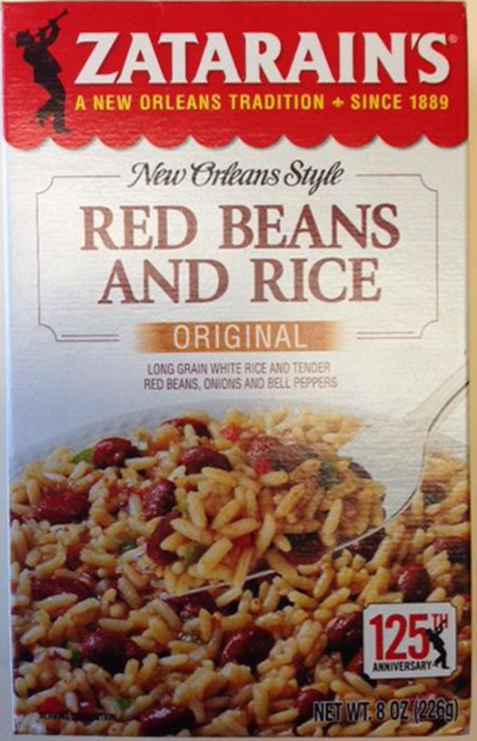 Voluntary Recall Notice for Zatarain's Red Beans and Rice Original due to Possible Health Risk from Undeclared Ingredients (Milk)