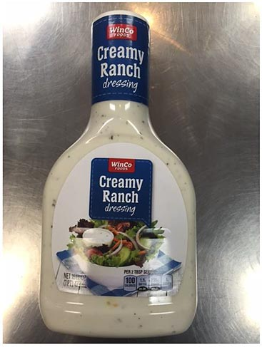 VanLaw Food Products, Inc. Announces Voluntary Recall of WinCo Brand Ranch Dressing
