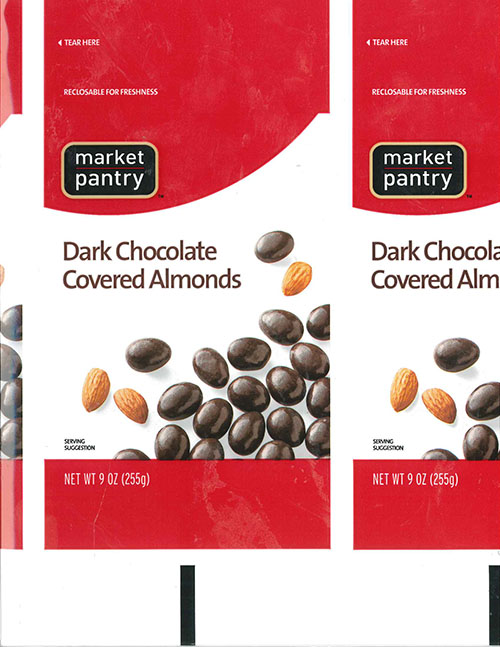 Zachary Confections, Inc. Announces a Nationwide Voluntary Recall of Market Pantry (Target) Dark Chocolate Covered Almonds For Undeclared Peanut in Product