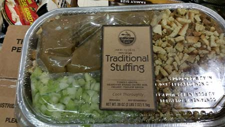 Taylor Farms Pacific, Inc. Recalls Signature Cafe Traditional Stuffing Due to Potential Undeclared Allergens (Milk, Wheat, Soy)