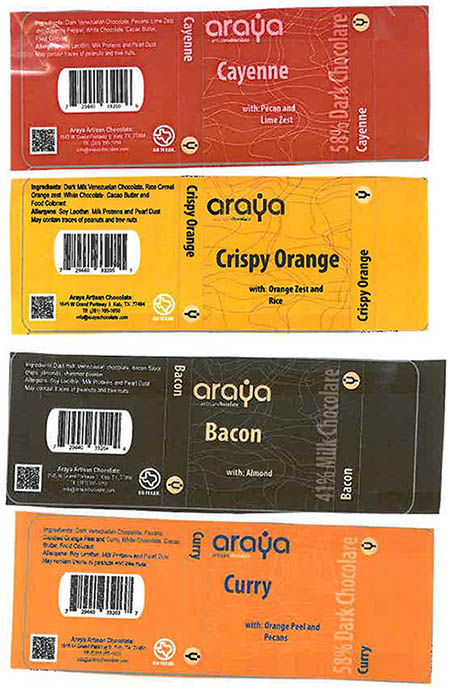 Araya Inc. Issues Allergy Alert on Undeclared Tree Nuts, Wheat, Milk and Soy in Their Chocolate Bars, Marshmallows, Dry Fruits and Chocolate Gift Boxes