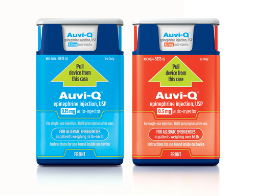Sanofi US Issues Voluntary Nationwide Recall of Auvi-Q® Due to Potential Inaccurate Dosage Delivery