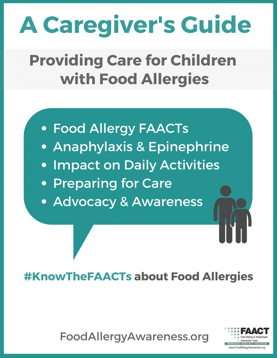 A caregiver's guide: providing care for children with food allergies
