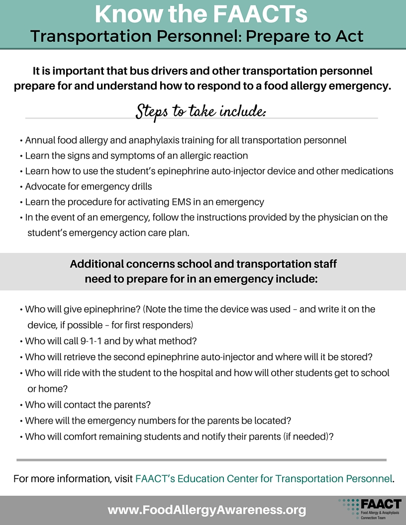 Know the FAACTs Transportation Personnel: Prepare to Act